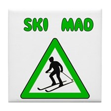 Ski Mad Tile Coaster