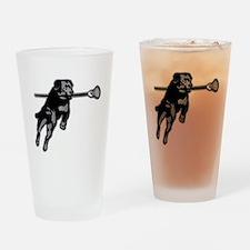 Lax Dog Drinking Glass