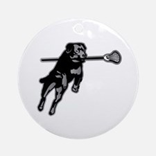 Lax Dog Round Ornament