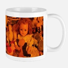 old doll in room of toys Mugs