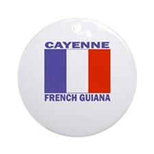 Cayenne, French Guiana Ornament (Round)