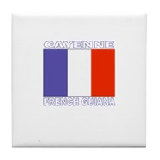 Cayenne, French Guiana Tile Coaster