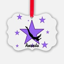 Purple Trampoline Star Ornament