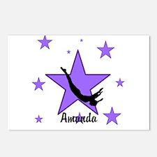 Purple Trampoline Star Postcards (Package of 8)