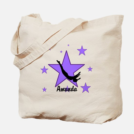 Purple Trampoline Star Tote Bag