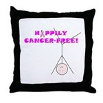 CANCER-FREE Throw Pillow
