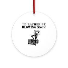 Cute I love snow Ornament (Round)