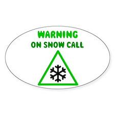 Snow Call Oval Decal