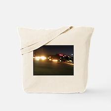 IMG_9520.JPG traffic lights in dark Tote Bag