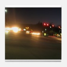 IMG_9520.JPG traffic lights in dark Tile Coaster