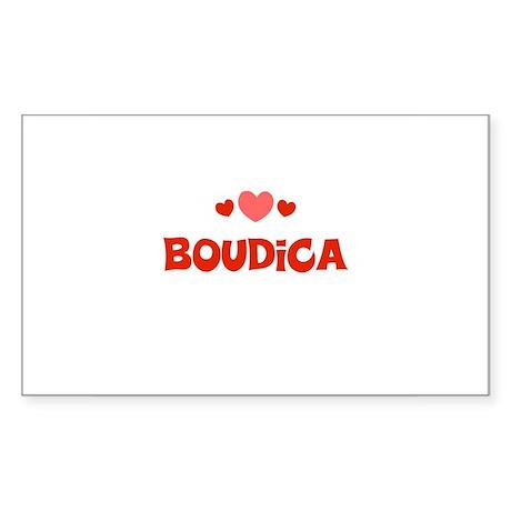 boudica Rectangle Sticker