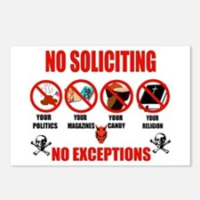 No Solicitors Postcards (Package of 8)