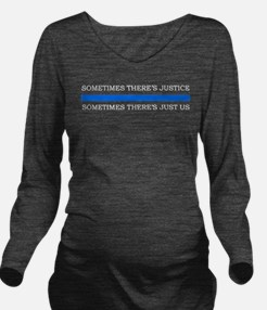 Unique Police Long Sleeve Maternity T-Shirt