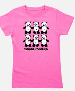 Funny Childrens panda Girl's Tee