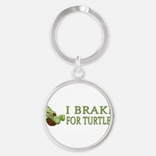 Funny For turtles Round Keychain