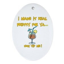 Tip the Bartender Oval Ornament