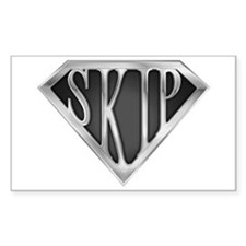 SuperSkip(metal) Rectangle Decal