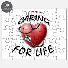 Caring for Life Nurse RN Heart Puzzle