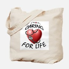 Caring for Life Nurse RN Heart Tote Bag
