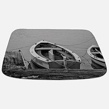 Docked Sailboats Bathmat
