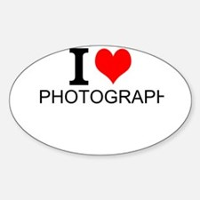 I Love Photography Decal
