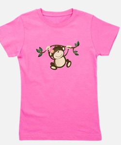 Cute Monkey girl Girl's Tee