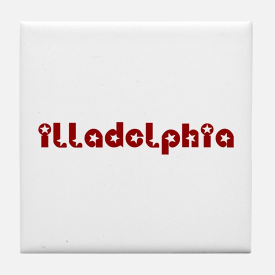 illadelphia red.png Tile Coaster
