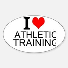I Love Athletic Training Decal