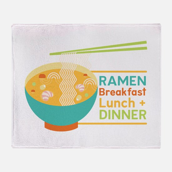 Breakfast Lunch & Dinner Throw Blanket