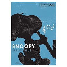 Snoopy - Feelin' Blue Wall Art Poster