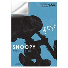 Snoopy - Feelin' Blue Wall Art Wall Decal