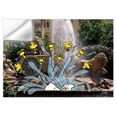 Snoopy And Woodstock - Fountain Time Wall Art Wall Decal