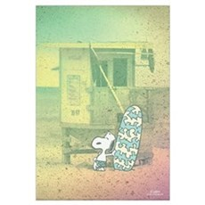 Snoopy At The Beach Wall Art Canvas Art