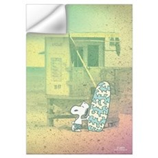 Snoopy At The Beach Wall Art Wall Decal