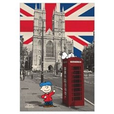 Snoopy And Charlie Brown - London Wall Art Canvas Art