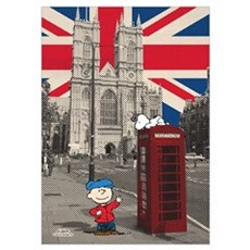 Snoopy And Charlie Brown - London Wall Art Poster