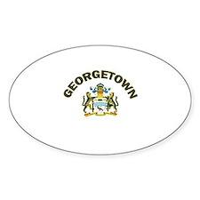 Georgetown, Guyana Oval Decal