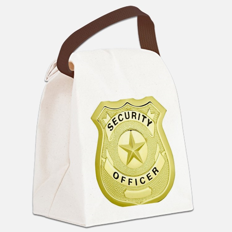 Cute Security officer Canvas Lunch Bag