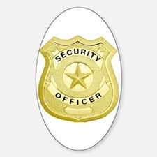 Cute Security officer Sticker (Oval)
