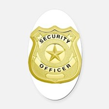 Cute Security Oval Car Magnet