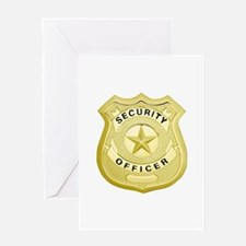 Security Officer Greeting Cards