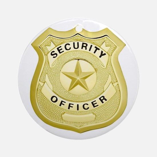 Security Officer Round Ornament