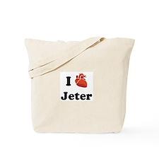 I (Heart) Jeter Tote Bag