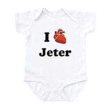I (Heart) Jeter Infant Bodysuit