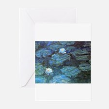 Unique Monet water lilies Greeting Cards (Pk of 10)
