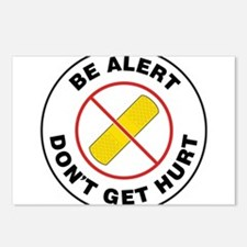 Be Alert Don't Get Hurt Postcards (Package of 8)