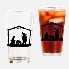 Cute Nativity Drinking Glass
