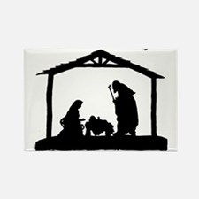 Cute Nativity Rectangle Magnet