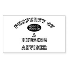 Property of a Housing Adviser Sticker (Rectangular