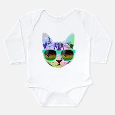 Rainbow Music Cat Body Suit